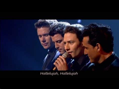 il divo hallelujah lyrics il divo hallelujah with lyrics live in