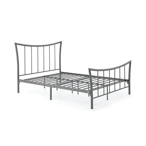 queen bed rails for headboard and footboard hodedah complete metal charcoal queen bed with headboard