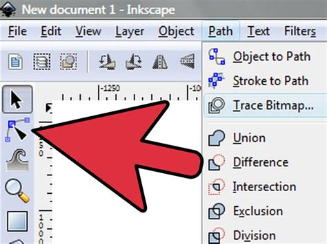 inkscape tutorial bitmap trace how to trace an image using inkscape 6 steps with pictures