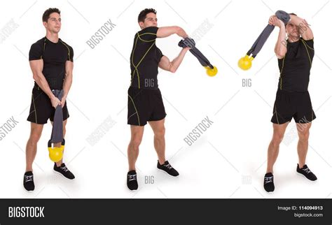 swing exercise kettlebell halo towel swing image photo bigstock