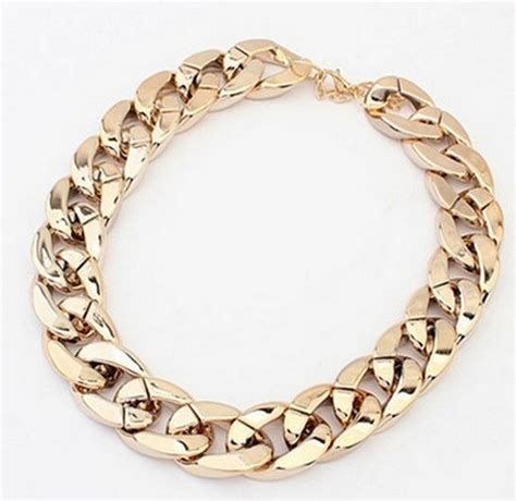 chunky link chain necklace in gold ebay finds
