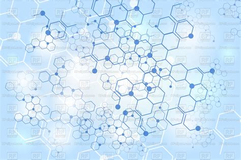molecular structure blue background vector image