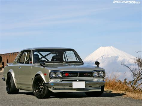 nissan hakosuka nissan skyline hakosuka japan mountains cars mount fuji