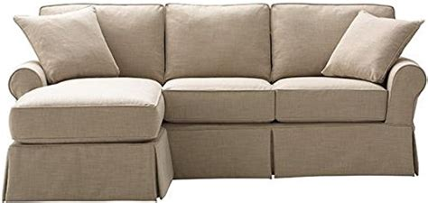 slipcovered sofa with chaise home furniture design