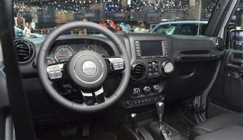 wrangler interni jeep wrangler black edition ii al salone di ginevra 2015