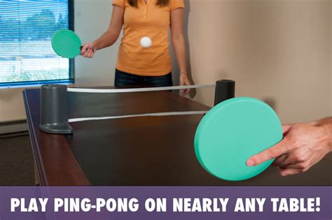 ping pong set for any table pongo play ping pong on nearly any table