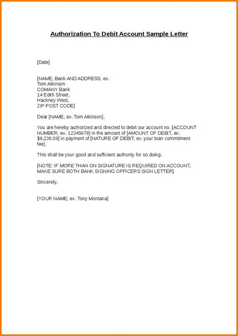 authorization letter template for joint account how to make authorization letter authorization letter pdf