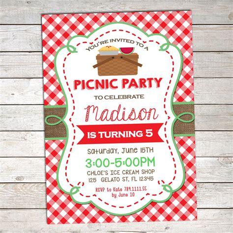 Summer Picnic Invitation Template 2