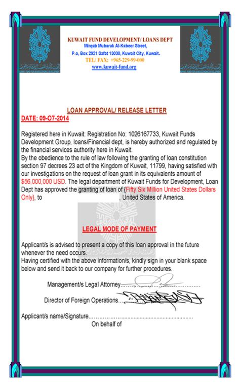 Letter Of Credit Kuwait Halifax Financial Loans Scams Get Great Skin