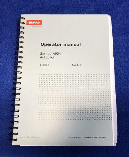 operator manual template new simrad ap24 autopilot operator owners used manual