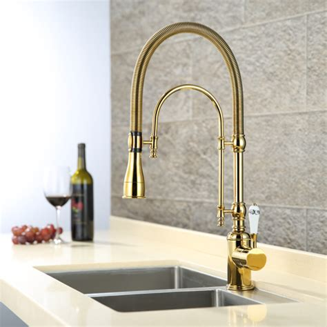 popular gold kitchen faucets buy cheap gold kitchen faucets lots from china gold kitchen faucets