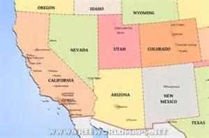 road map of southwest united states southwest map map2