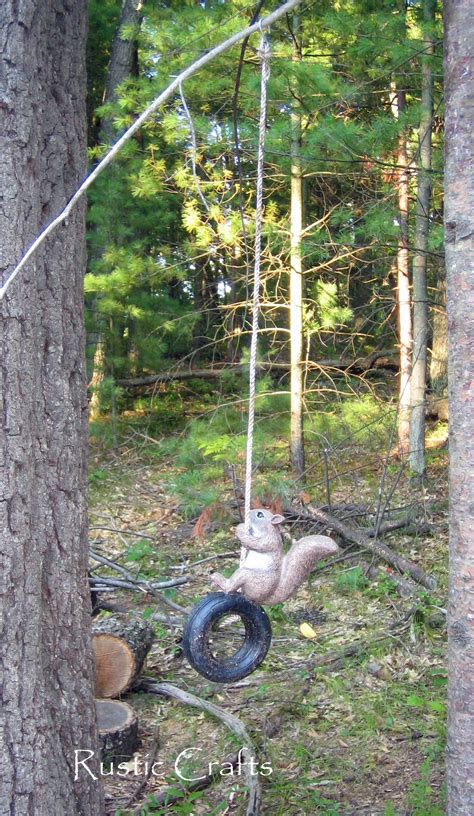 squirrel swing diy outdoor furniture rustic crafts chic decor