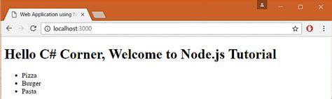 node js ejs tutorial building web application using node js part two