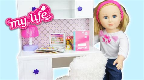 my life desk my life dolls desk and accessories set review youtube