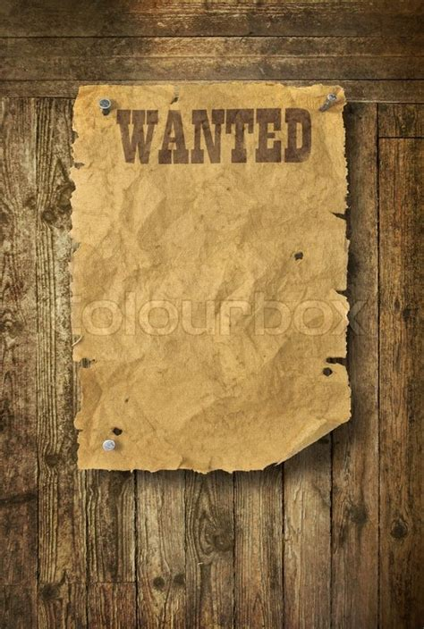 woodworker wanted west wanted poster on wooden wall stock photo