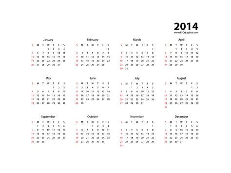 simple calendar template 2014 simple calendar 2014 vector eps psdgraphics