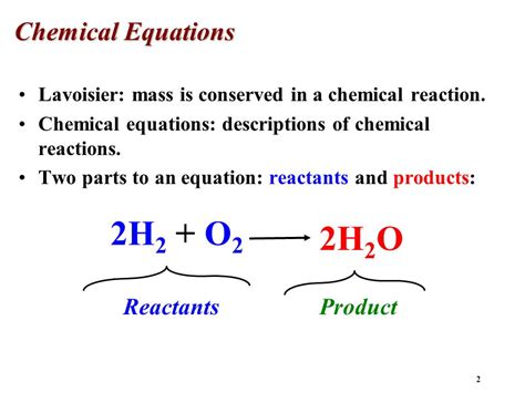A Place Reaction Quantities Of Reactants And Products Ppt