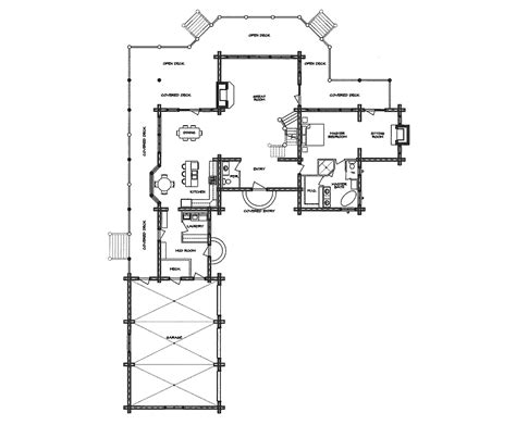 log home floor plan hacienda