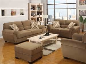 Home Furnishings Fashionable Living Room With Fabric Sofas By Emerald Home