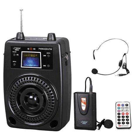 amazon pro amazon com pyle pro pwma80ufm 100 w portable pa system