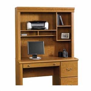 Sauder Orchard Small Wood Computer Desk With Hutch In Oak Sauder Orchard Large Computer Desk Hutch Ebay