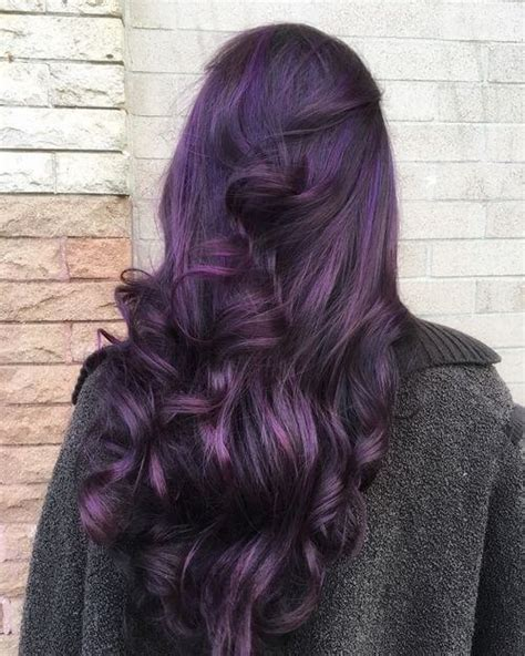 purple black hair color 24 purple hair color ideas trending in 2019
