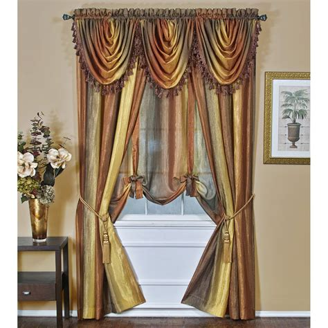 hanging curtains with valance how to hang curtains with waterfall valance curtain