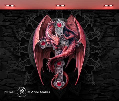 Cool Wall Murals anne stokes gothic guardian ggasw001