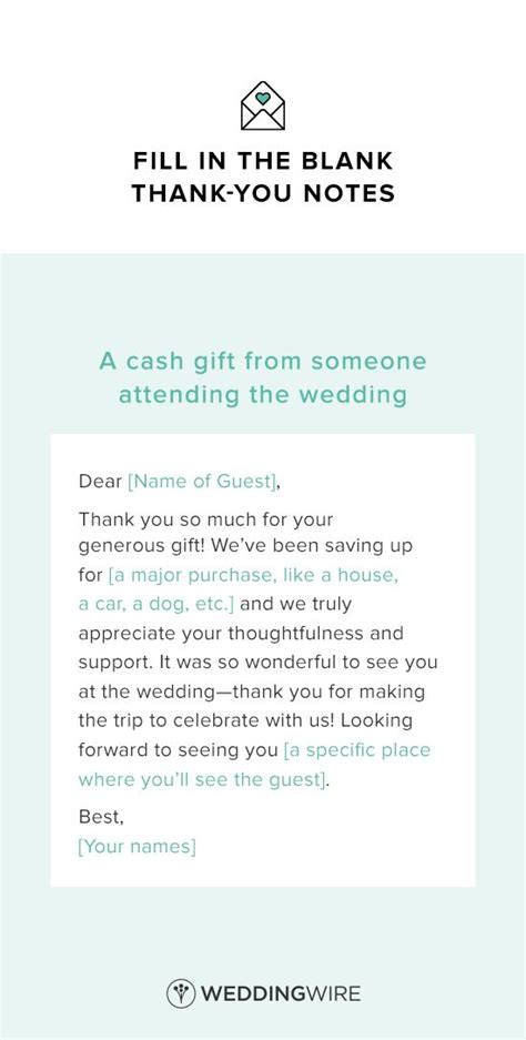 thank you card for money template these wedding thank you note templates are legit essential