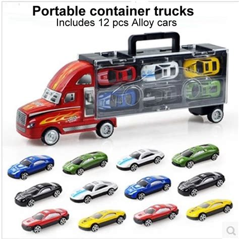 Metal Diecast aliexpress buy 1 30 scale diecast metal alloy model toys diecast metal truck hauler small
