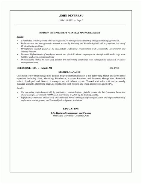 sle resumes sales management resume