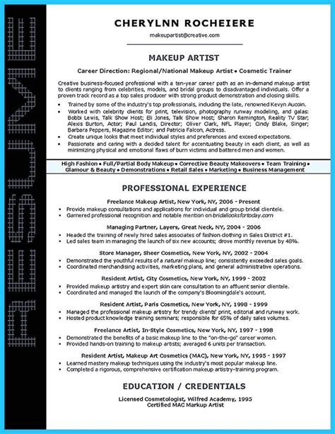 some exle of resume make a resume resume and artist resume on