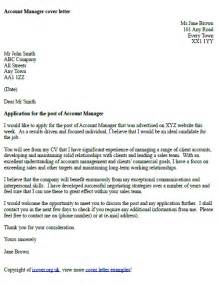 Cover Letter Template Uk by Account Manager Cover Letter Exle Icover Org Uk