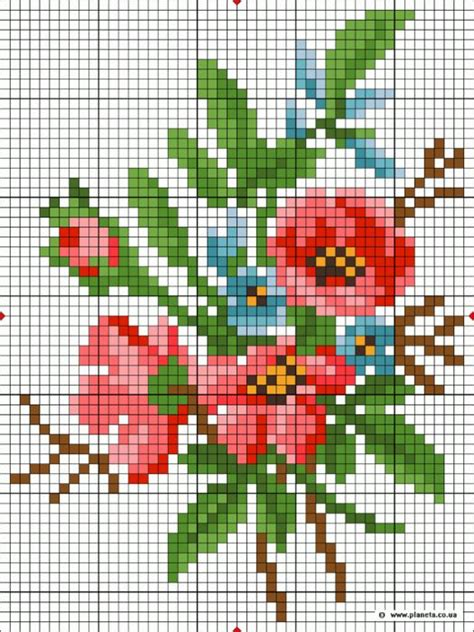hobbyware pattern maker for cross stitch poppies color 525x700 160kb hand y needlework 4