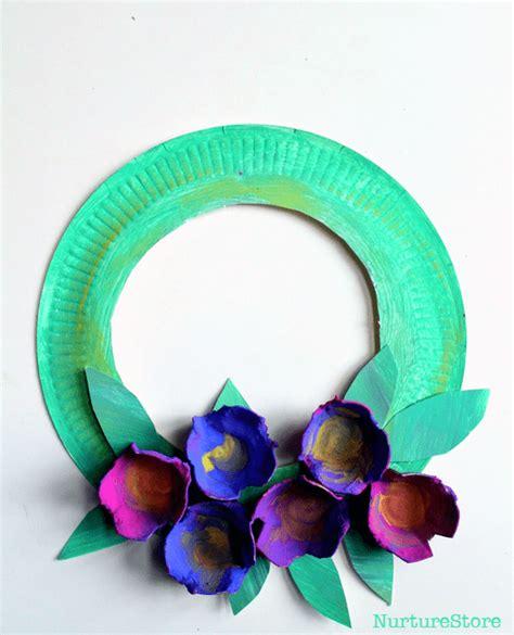 easy flower crafts for paper plate wreath for preschool nurturestore