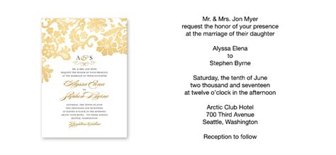 Wedding Invitation Wording Sample Verses by Wedding Paper Divas