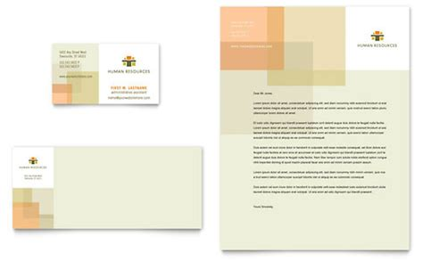 hr business template human resources business cards templates designs