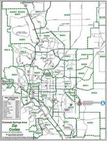 colorado springs 8x11 zip codes map from macvan map store