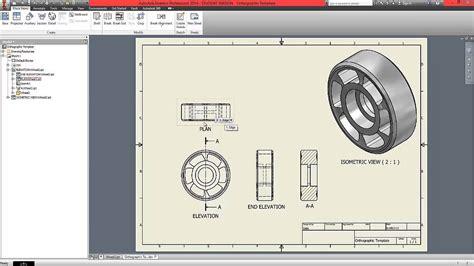 pattern 3d sketch inventor autodesk inventor beginner tutorial part 7 orthographic