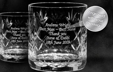 Alised Engraved Cut Crystal Whisky Tumblers