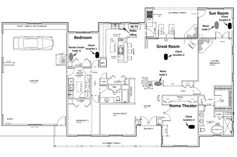 floor plan network design samsung connect home this router smart home hub combo isn