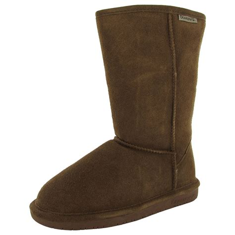 bearpaw shoes bearpaw womens 10 inch suede sheepskin boot shoe ebay