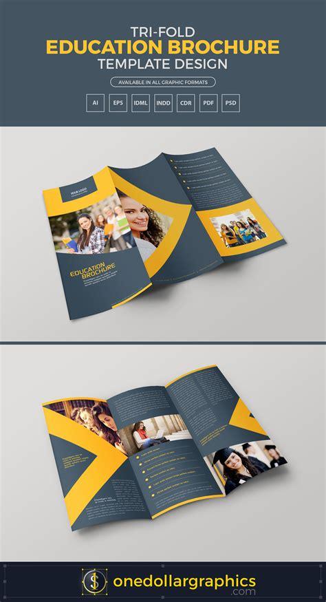 Tri Fold Education Brochure Template Design In Ai Eps Pdf Cdr Pdf Indd Idml Formats Brochure Template Ai