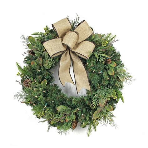 home accents holiday 30 in led pre lit nature inspired