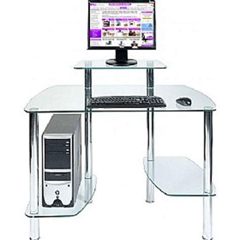 Glacier Glass Computer Desk Glass Computer Desks Glass Computer Desks Uk