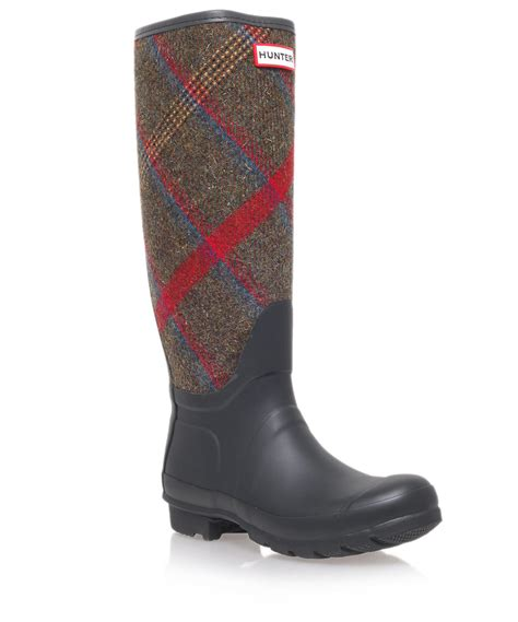 wellington boots for black original check wellington boots in blue for