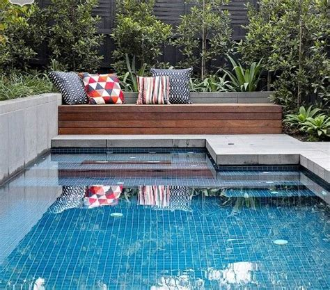 pool bench seat perfect size plunge pool with the right balance of