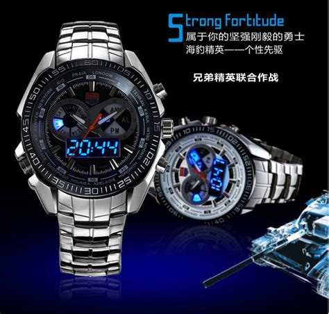 tvg jam tangan sporty digital analog km 468 black