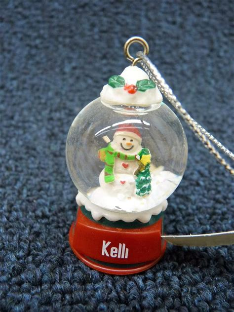 cute ganz personalized name snowman snow globe ornament k